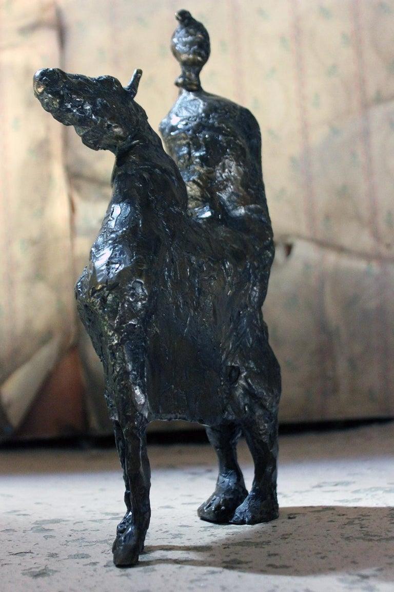 Beth Carter; Pantomime; Bronze; Ap; Unique; circa 1996 For Sale 8