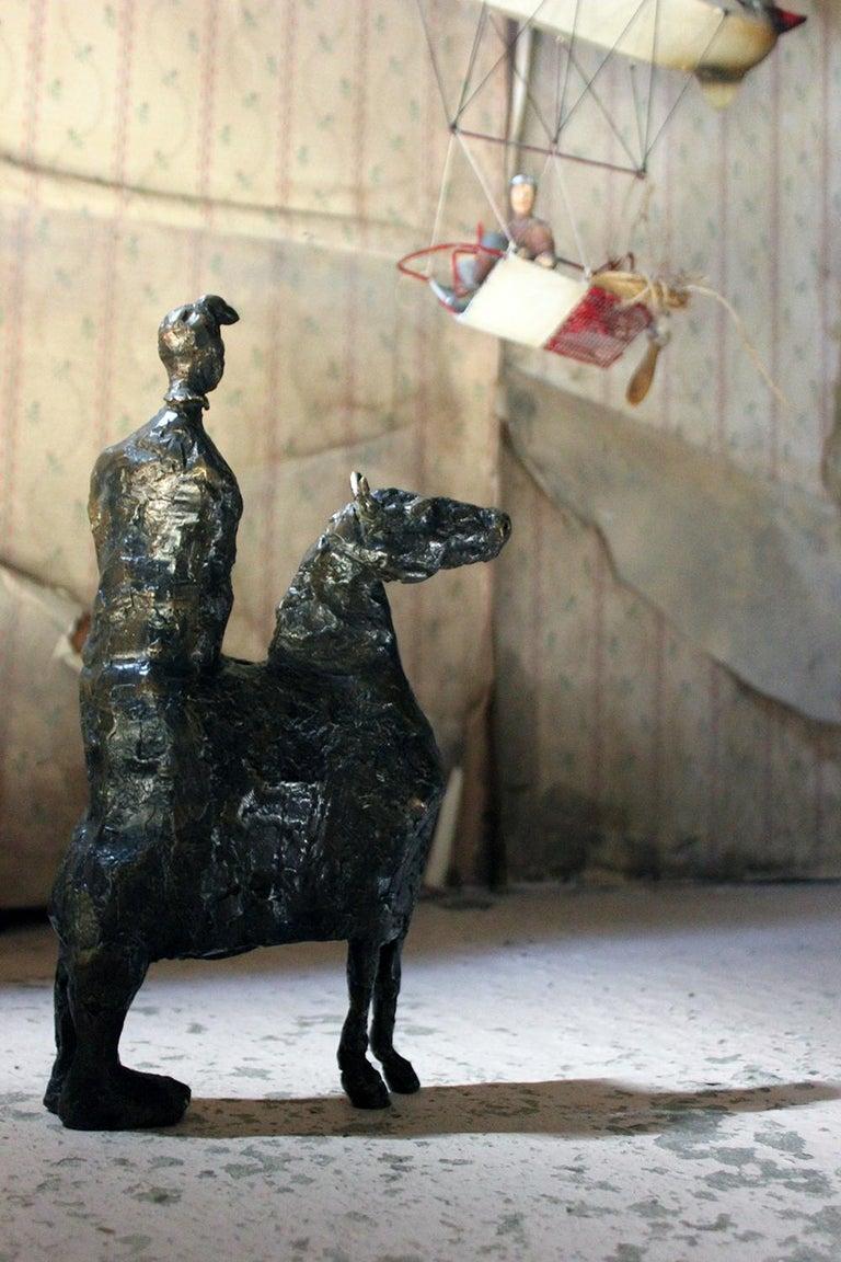 Beth Carter; Pantomime; Bronze; Ap; Unique; circa 1996 For Sale 10