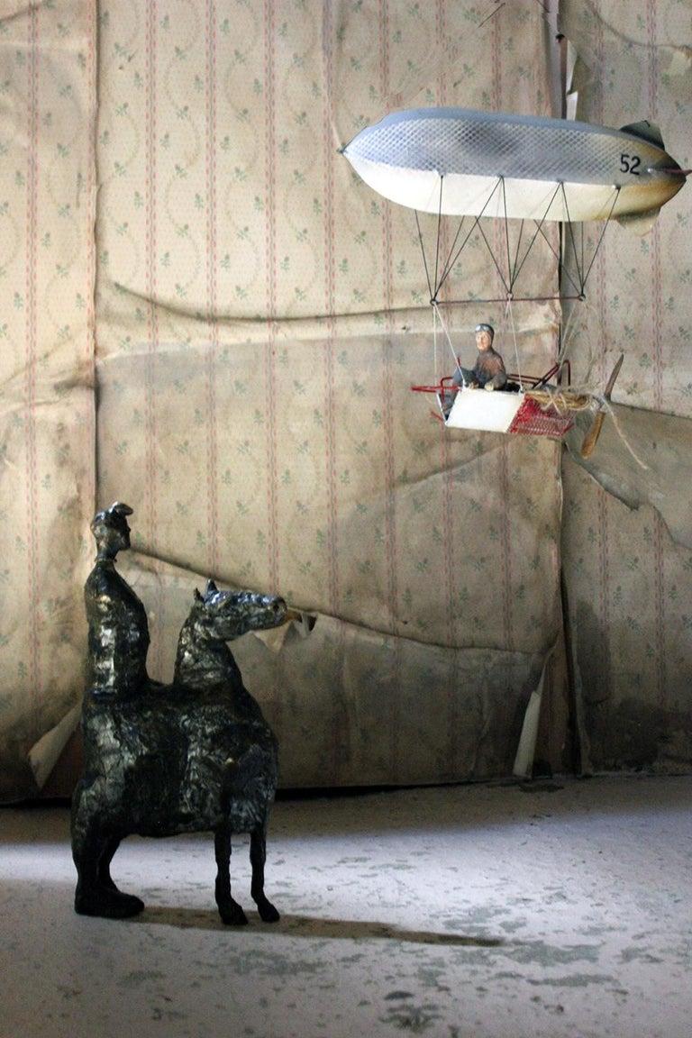 Beth Carter; Pantomime; Bronze; Ap; Unique; circa 1996 For Sale 11