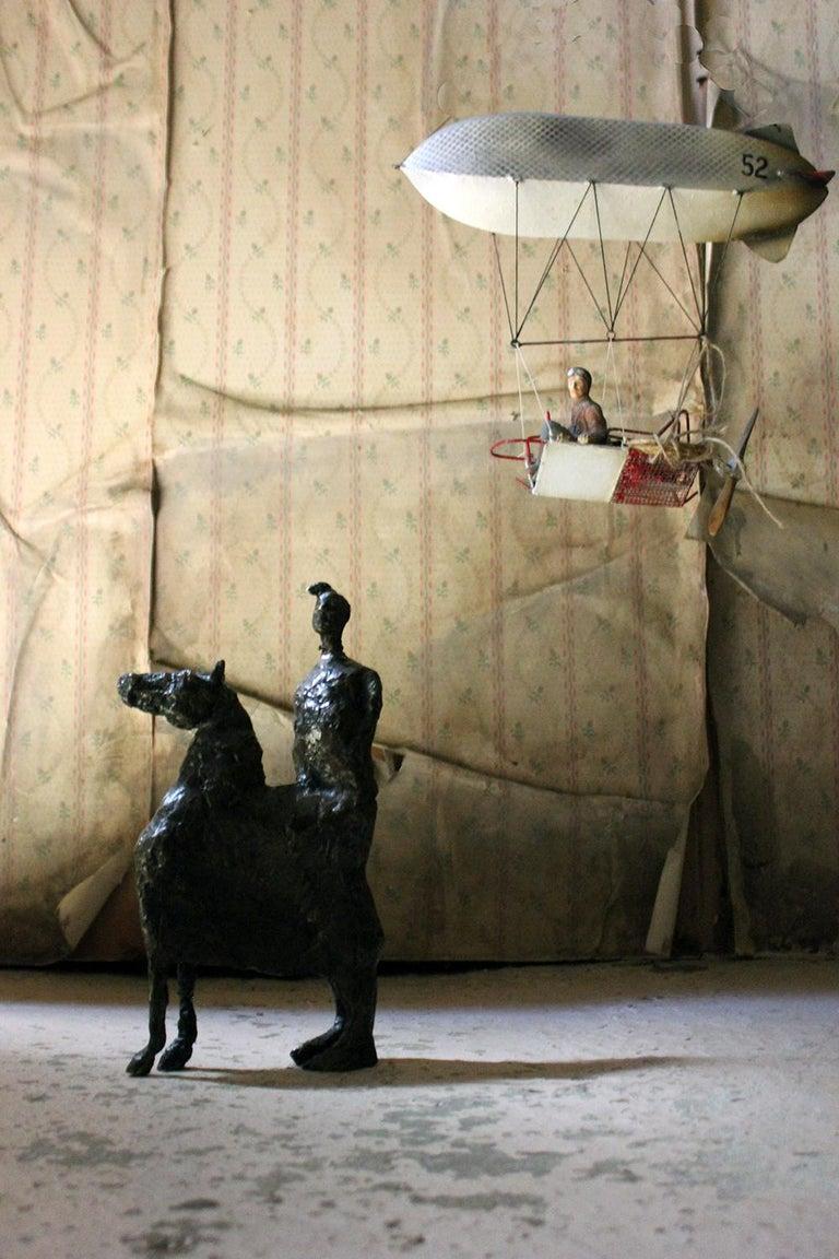 Beth Carter; Pantomime; Bronze; Ap; Unique; circa 1996 For Sale 12
