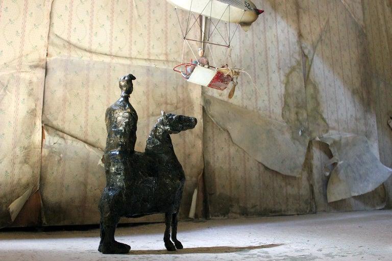 Beth Carter; Pantomime; Bronze; Ap; Unique; circa 1996 For Sale 13