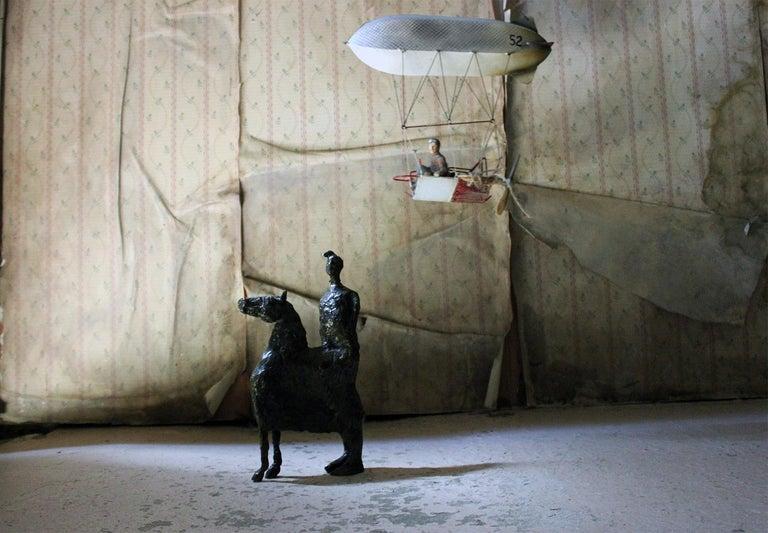 Beth Carter; Pantomime; Bronze; Ap; Unique; circa 1996 For Sale 14
