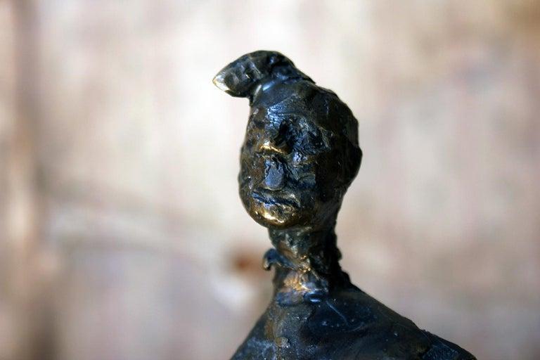 Late 20th Century Beth Carter; Pantomime; Bronze; Ap; Unique; circa 1996 For Sale