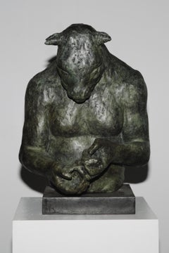 Large Minotaur Bust (with bird)