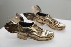 Traveling Shoes (polished bronze)