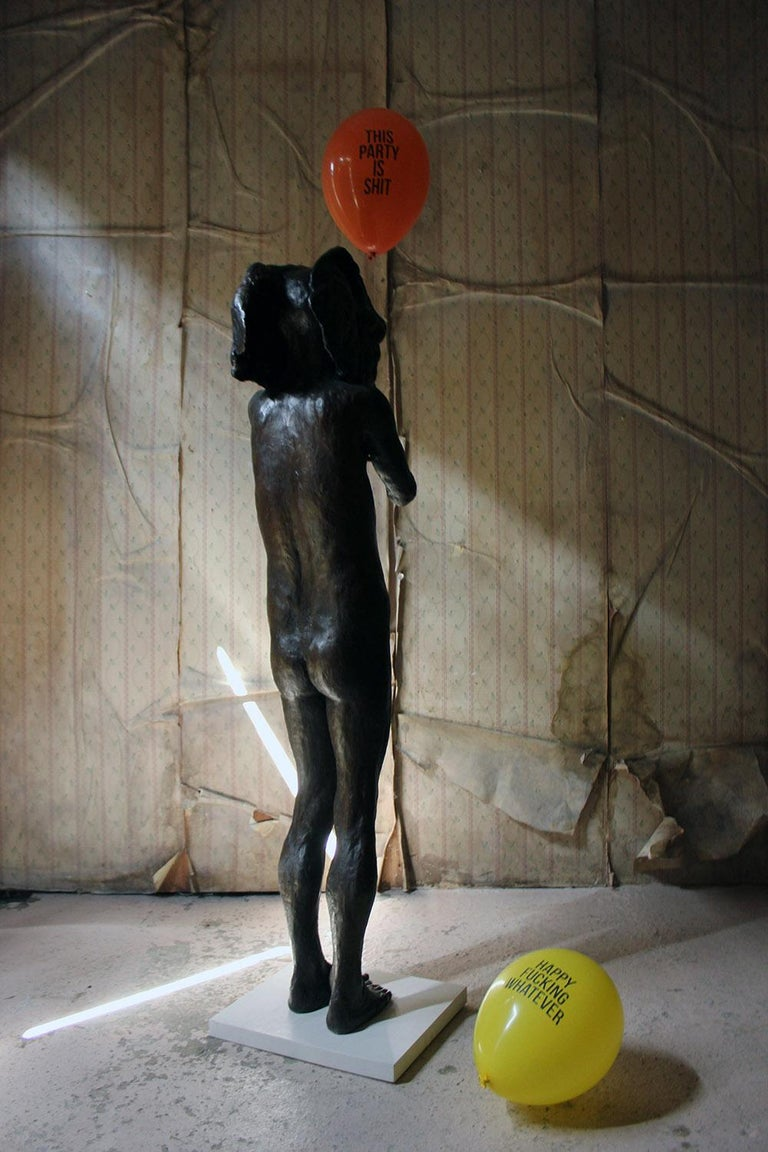 Beth Carter, Standing Elephant, Bronze Resin, 2014, Edition 2 of 15 For Sale 9