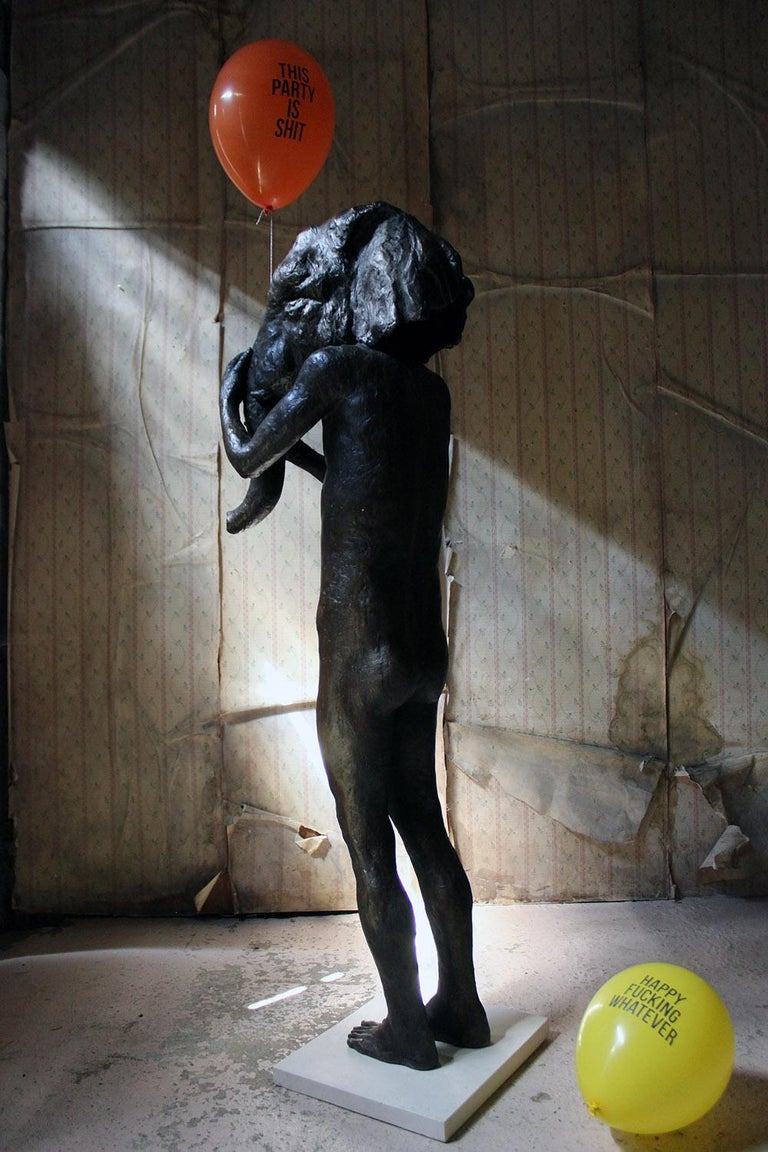Beth Carter, Standing Elephant, Bronze Resin, 2014, Edition 2 of 15 For Sale 12