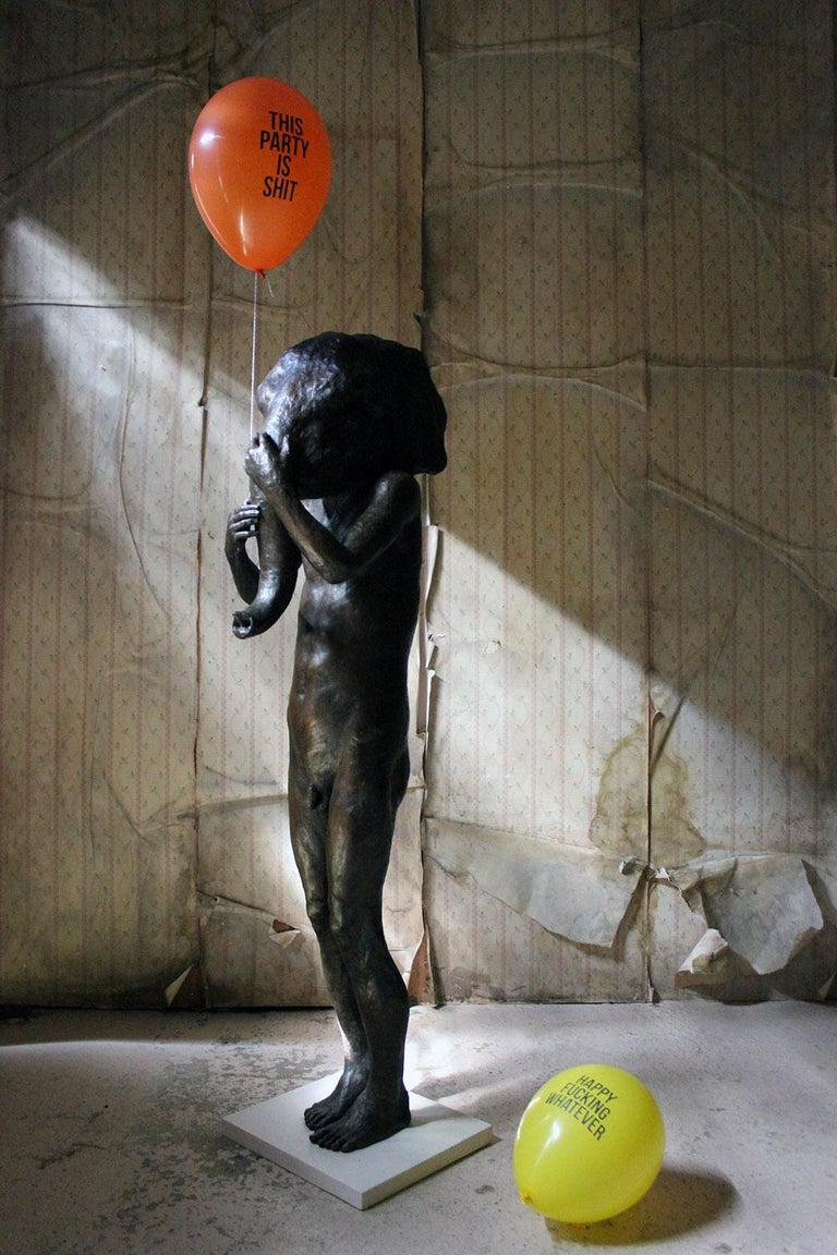 Beth Carter, Standing Elephant, Bronze Resin, 2014, Edition 2 of 15 For Sale 13