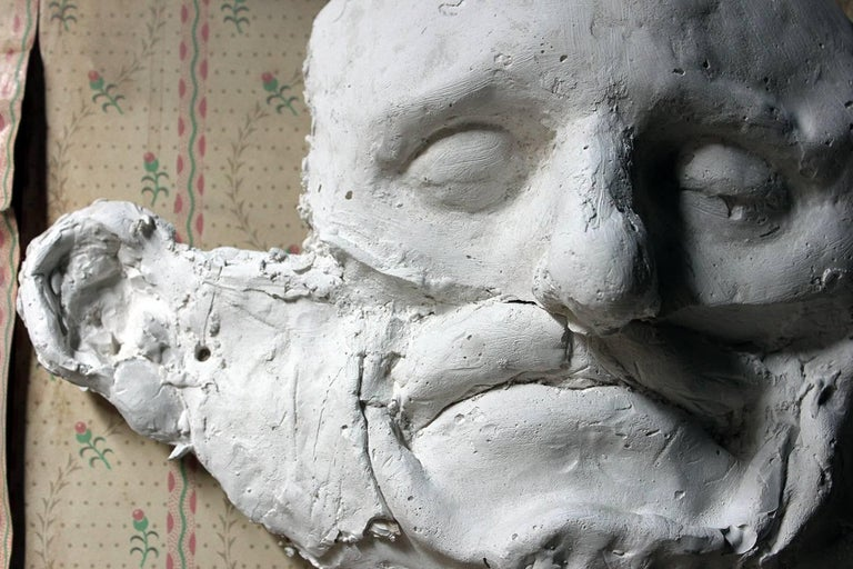 English Beth Carter, 'Wide Face Sad Face Mask', Jesmonite and Plaster, Unique For Sale