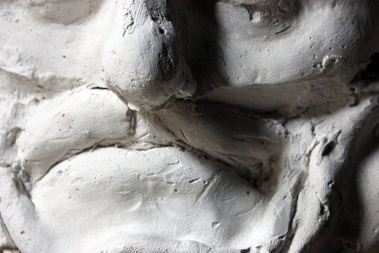 Hand-Carved Beth Carter, 'Wide Face Sad Face Mask', Jesmonite and Plaster, Unique For Sale