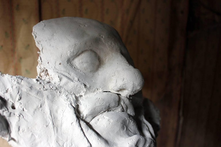 Beth Carter, 'Wide Face Sad Face Mask', Jesmonite and Plaster, Unique In Excellent Condition For Sale In Bedford, Bedfordshire