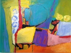 Circles and Squares, Mixed Media on Canvas