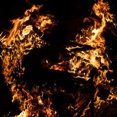 """Fire 2523"" - Composite Landscape Photography - JMW Turner"