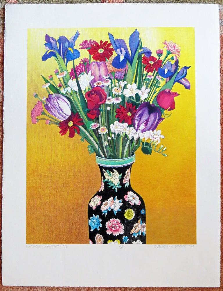Flowers, Flowered Vase - Print by Beth van Hoesen