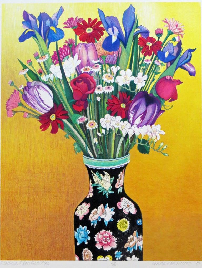 Beth van Hoesen Still-Life Print - Flowers, Flowered Vase