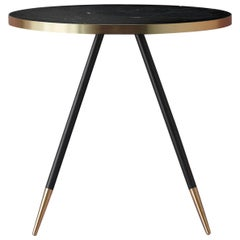Bethan Gray Band Dining Table Black / Black Legs / Brass