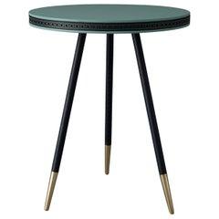 Bethan Gray Brogue Side Table Jade / Black / Navy / Brass