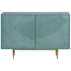 Bethan Gray Dhow Two Door Sideboard Cabinet Jade and Brass