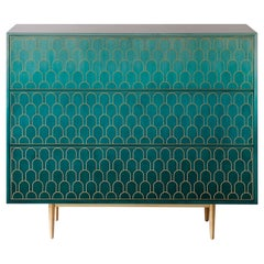 Bethan Gray Nizwa Chest of Drawers in Jade and Brass