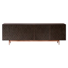 Bethan Gray Nizwa MAXI Four-Door Cabinet in Charcoal and Brass