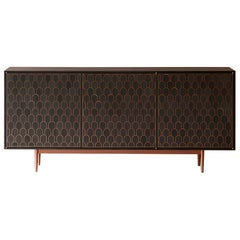 Bethan Gray Nizwa Three-Door Cabinet in Charcoal and Copper