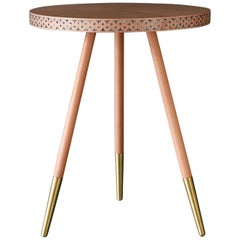 Shamsian Paua Side Table in Pink and Brass