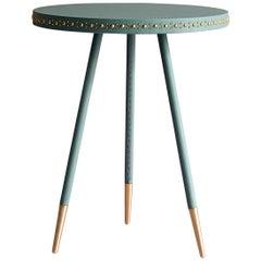 Bethan Gray Stud Side Table Jade / Brass
