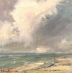 All Delights of Summer by Bethanne Cople, Framed Beach Oil on WoodPainting