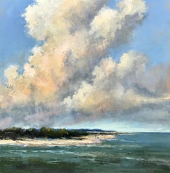 Outline of Their Majesty  by Bethanne Cople, Large Framed Impressionist Seascape