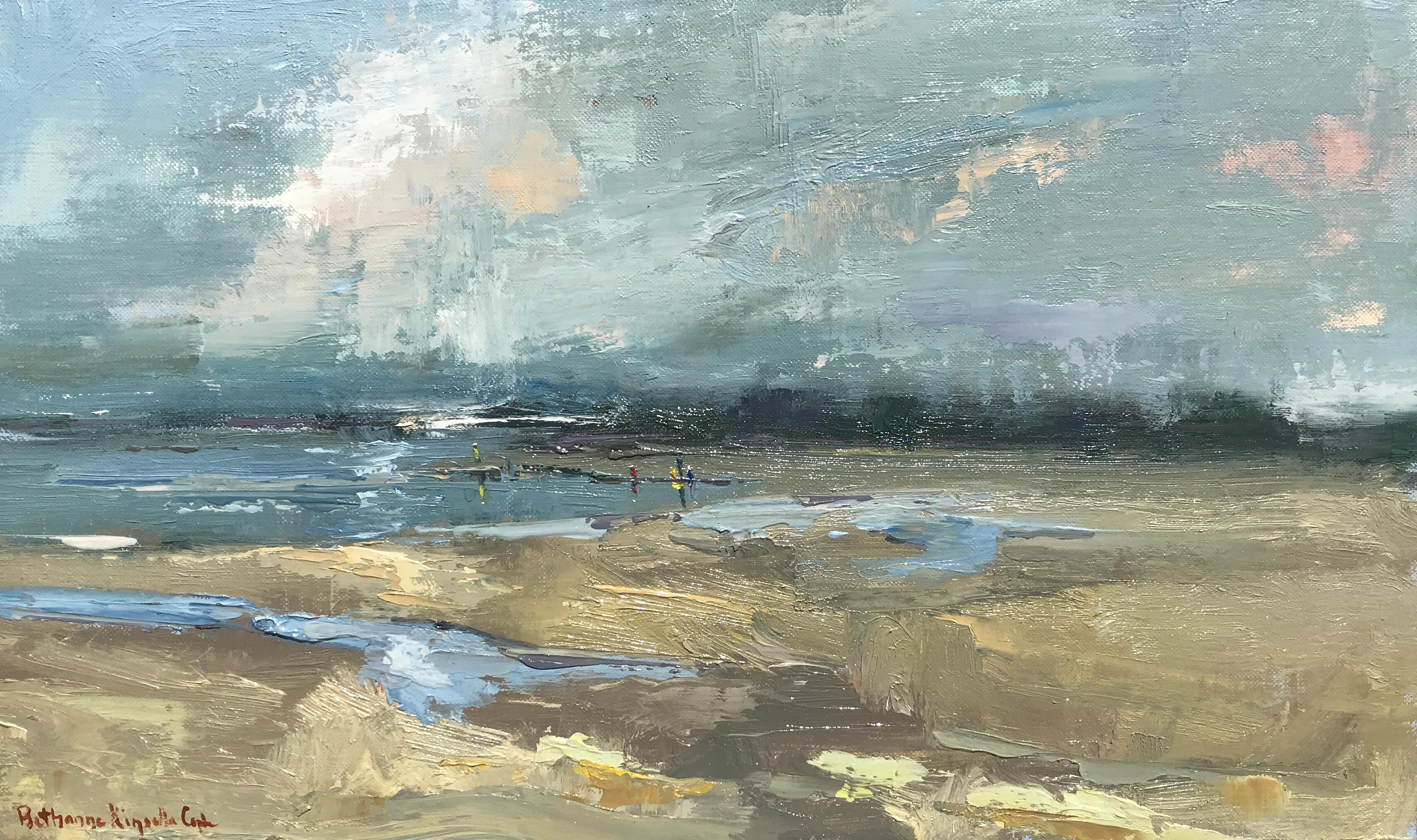 Things Pass Like Shadows, and the Sky by Bethanne Cople, Small Beach Painting