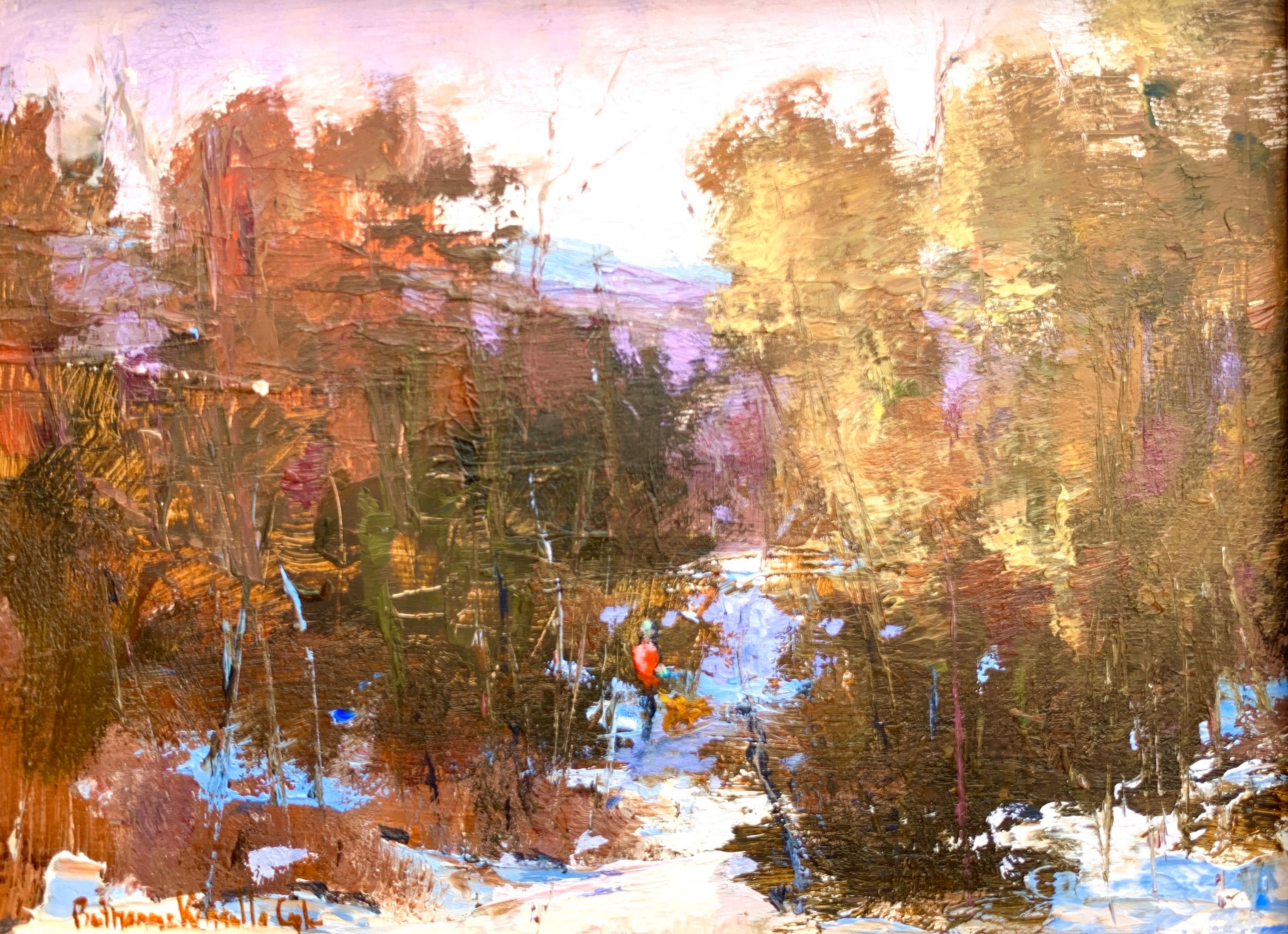Untarnished Fair as is the Violet, Bethanne Cople, Framed Impressionist Painting