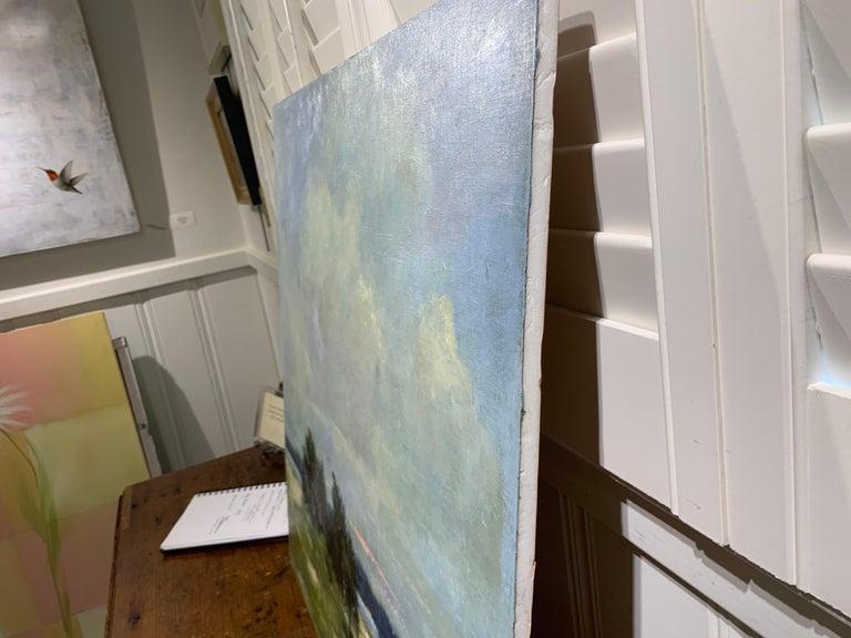 Windswept by Bethanne Cople, Framed Beach Oil on Foam Board For Sale 5