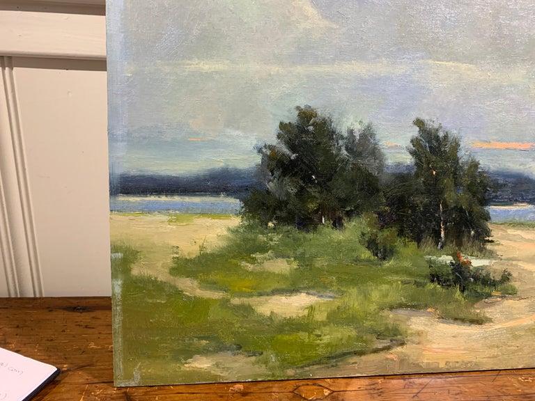 Windswept by Bethanne Cople, Framed Beach Oil on Foam Board For Sale 2