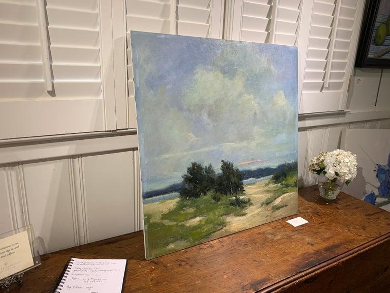 Windswept by Bethanne Cople, Framed Beach Oil on Foam Board For Sale 3
