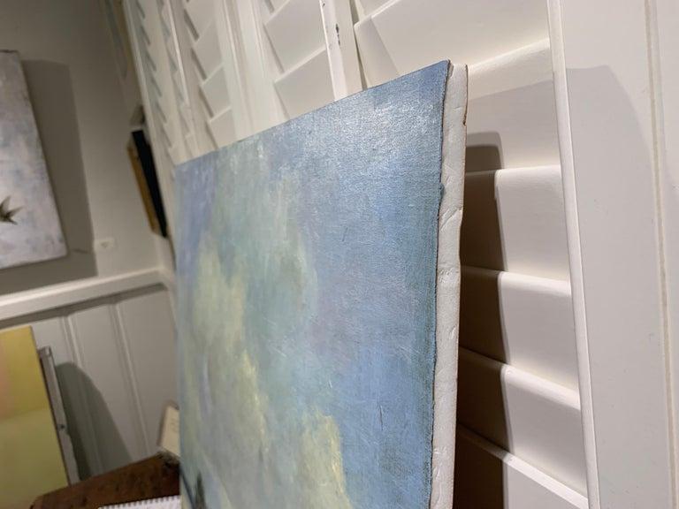 Windswept by Bethanne Cople, Framed Beach Oil on Foam Board For Sale 4