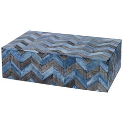 Bethel Decorative Box in Zigzag Pattern Made with Bone and Horn by CuratedKravet