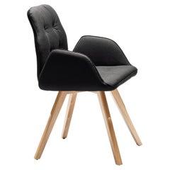 Betibù SP Black Chair by Dario Delpin
