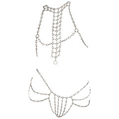 "Betony Vernon ""Body Chain"" Necklace and Belt Sterling Silver 925"