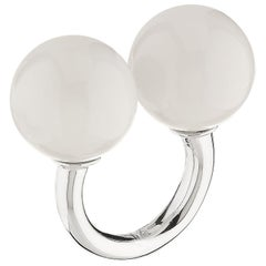 "Betony Vernon ""Double Sphere Marble Massage Ring"" Sterling Silver 925 in Stock"