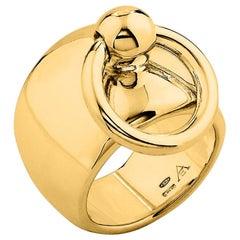 """Betony Vernon """"O-Ring Band Large Ring"""" Ring 18 Karat Gold in Stock"""
