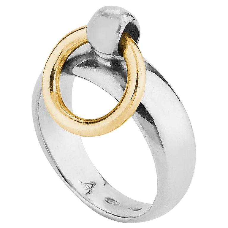 "Betony Vernon ""O-Ring Band Mini Ring"" Ring Sterling Silver 925 18k Gold in Stock For Sale"
