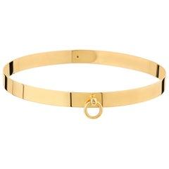 "Betony Vernon ""O-Ring Choker Mini"" Necklace 18 Karat Gold in Stock"