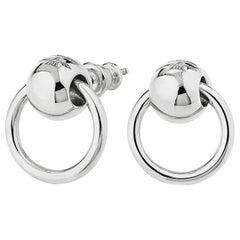"""Betony Vernon """"O-Ring Earrings"""" Sterling Silver 925 in Stock"""