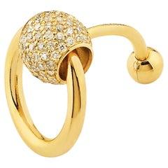 "Betony Vernon ""O-Ring Navel Piercing"" Piercing 18K Gold Pavée Diamond in Stock"