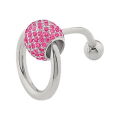"""Betony Vernon """"O-Ring Navel Piercing"""" Sterling Silver 925 and Rubies in Stock"""