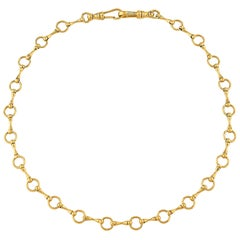 "Betony Vernon ""O-Ring Signature Chain Necklace"" Necklace 18 Karat Gold in Stock"