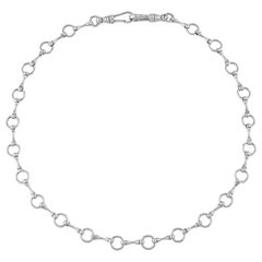 """Betony Vernon """"O-Ring Signature Chain"""" Necklace Sterling Silver 925 in Stock"""
