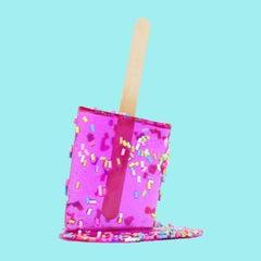 """Berry Sprinkle Pop 2 "" -  Resin Popsicle Sculpture"