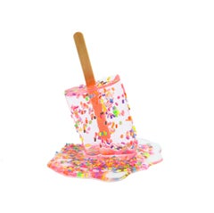 """Rose Sprinkle"" - 6 inch Resin Popsicle Sculpture"
