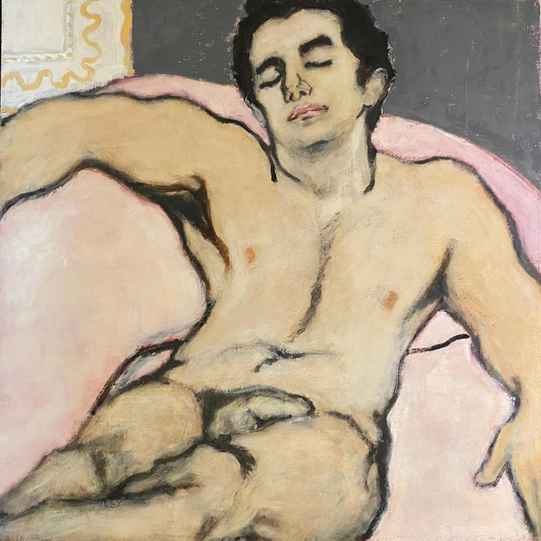 Betsy Podlach Nude Painting - Man In Repose